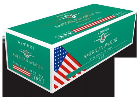 Tuburi tigari American Aviator 200 menthol