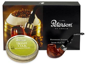 Set Peterson Irish Oak & Pipe