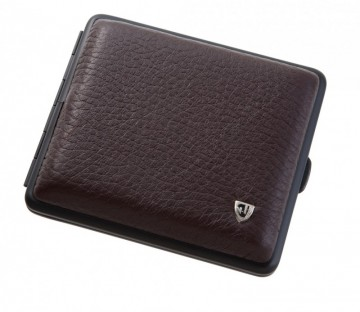 poza Tabachera von Hofe leather deer brown 18 tigari