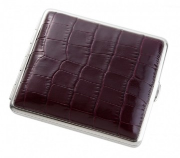 poza Tabachera von Hofe leather Dino bordeaux 18 tigari