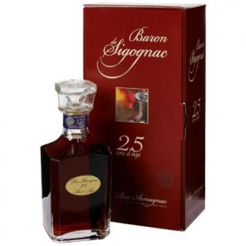 poza Armagnac Baron De Sigognac Carafe 25 Ani Gift Box, 70cl,40%