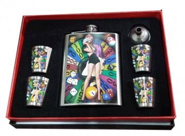 poza Set flask + pahare 491100