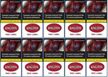 poza Tutun Tigari Kingston Red Label 35g 10pac