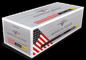 poza Tuburi tigari American Aviator 200 carbon extra long filter