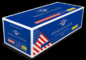 poza Tuburi tigari American Aviator 200 full flavour extra long filter