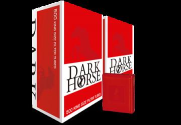 poza Tuburi tigari Dark Horse 1000 Set cu tabachera