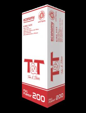 poza Tuburi tigari T&T 200 white