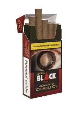 poza Tigari de foi Djarum Black Ruby Filter 10